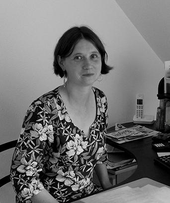 photo en noire & blanc Cécile daniel dieteticienne