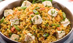 Image des lentilles corail quinoa version diététique